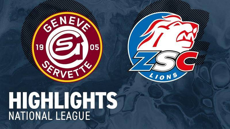 Genf vs. ZSC Lions 3:4 - Highlights National League